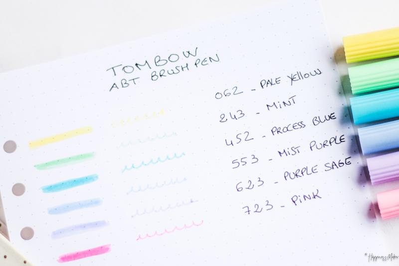 swatchs abt brush pen tombow pastel