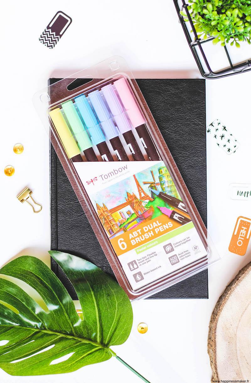 tombow abt pastel brush pen pastel bullet journal creatif