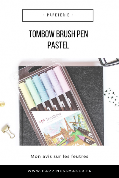 tombow brush pen pastel feutres pinceau avis test swatchs