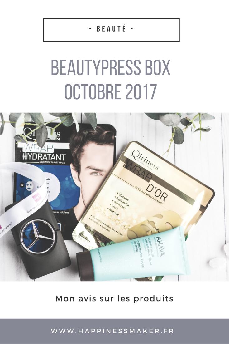 avis sur la beautypress box d'octobre 2017