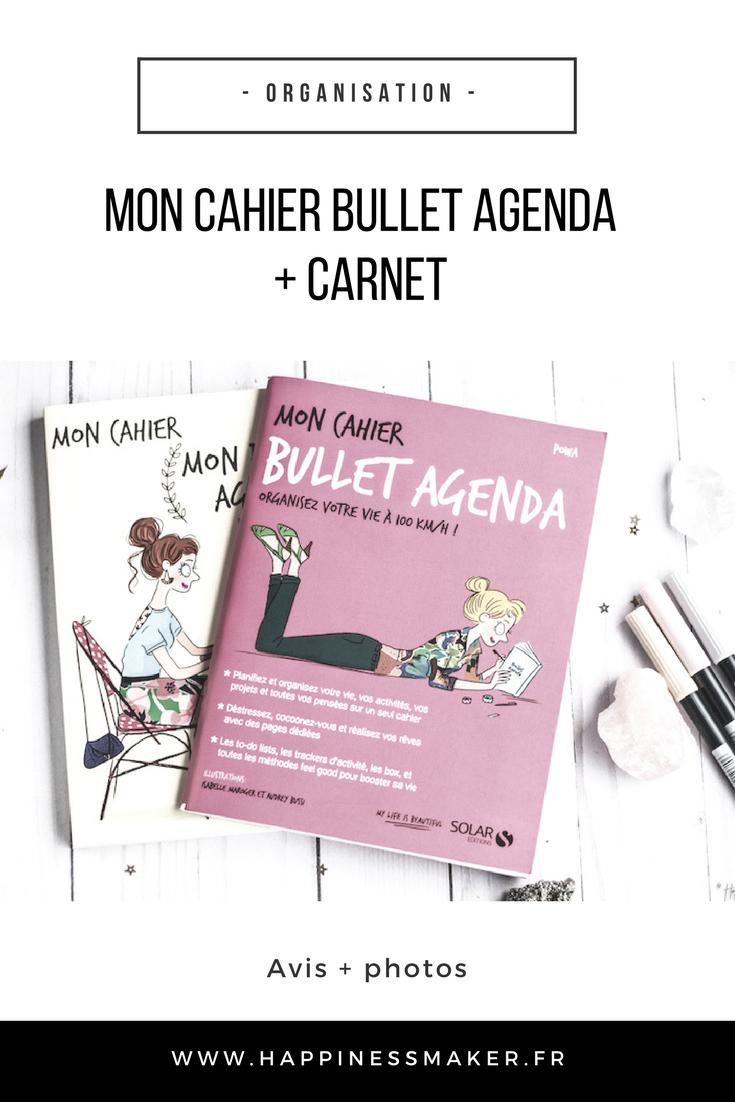 mon cahier bullet agenda journal carnet avis