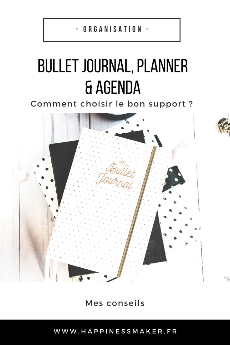 quel système choisir entre bullet journal agenda et planner