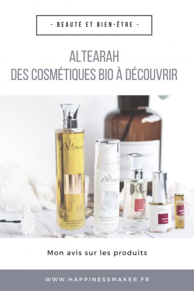 Altearah : Des cosmétiques bio aux multiples bienfaits