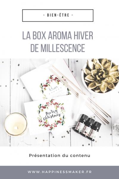 La box huiles essentielles d'hiver Millescence est arrivée !