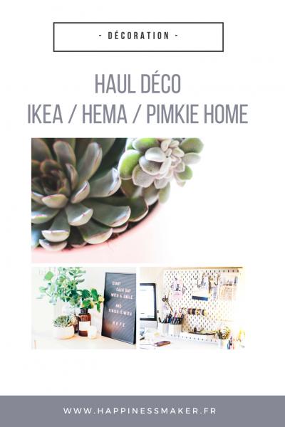 Haul déco : Panneau perforé Ikea, plantes grasses et tableau à messages