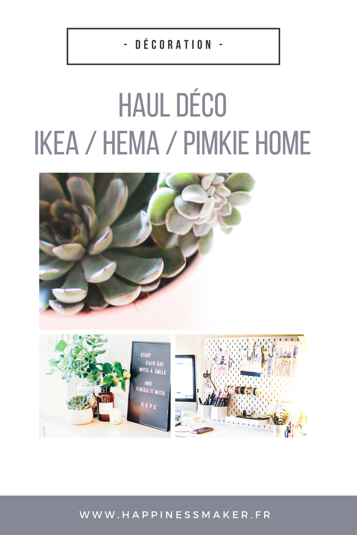 haul d co panneau perfor ikea plantes grasses et tableau messages happiness maker. Black Bedroom Furniture Sets. Home Design Ideas