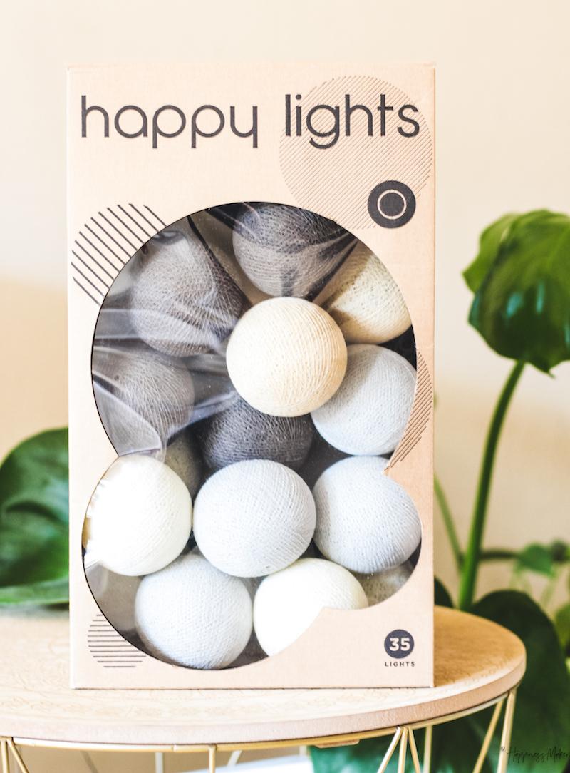 idée cadeau de noël guirlande boules lumineuse coloris hiver
