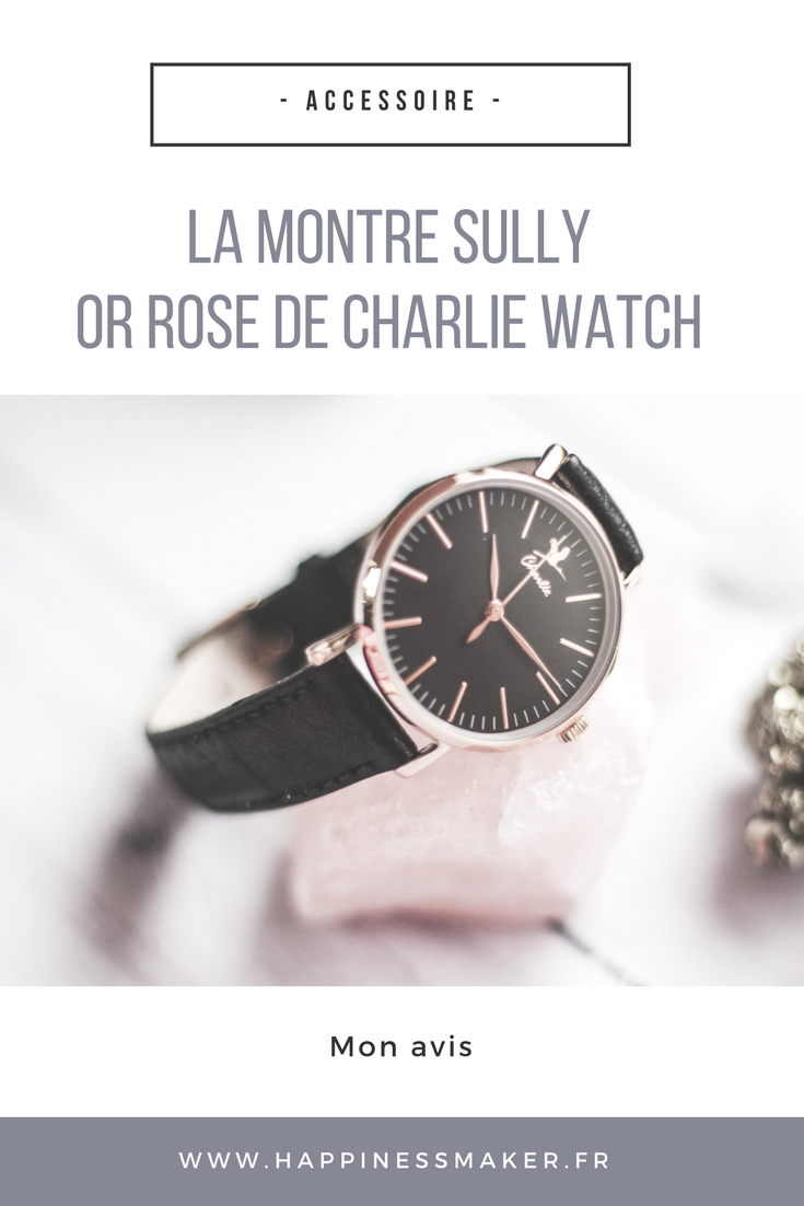 montre sully or rose charlie watch