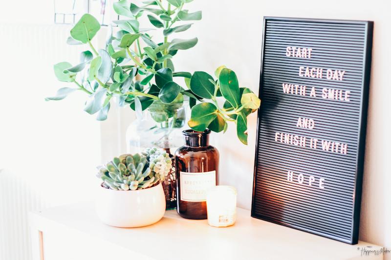 haul d co panneau perfor ikea plantes grasses et tableau messages happiness maker. Black Bedroom Furniture Sets. Home Design Ideas