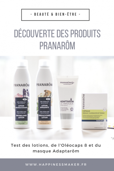 test masque adaptarôm lotions oleocaps 8 pranarom