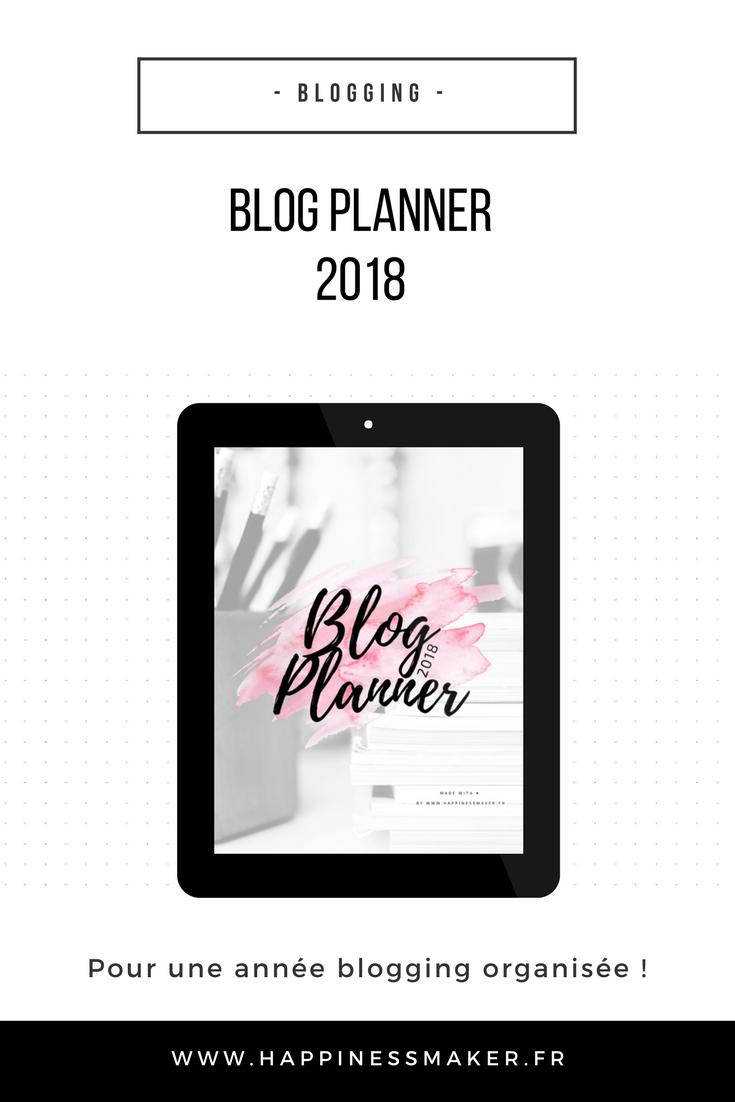 blog planner 2018 fixer ses objectifs noter statistiques et mots de passe