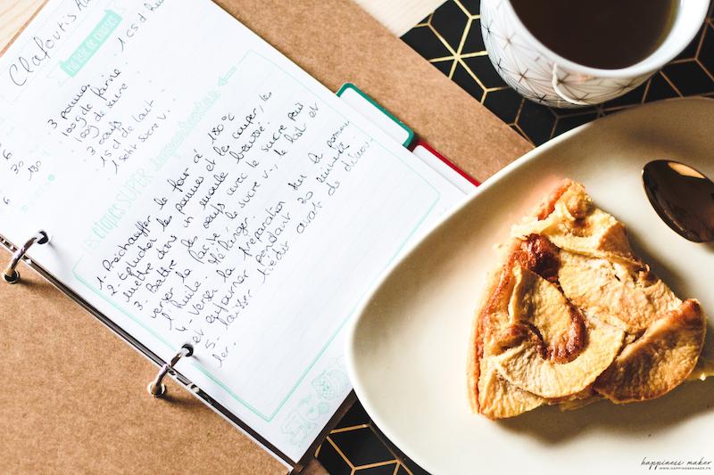 carnet de recettes de cuisine toga
