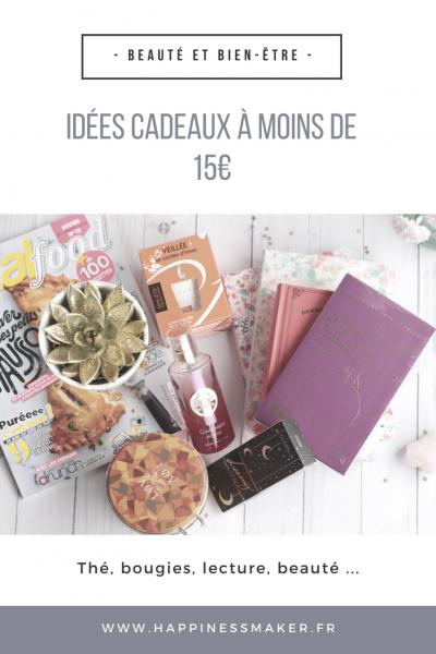 Beauté & feel good : Des idées de cadeaux à moins de 15€
