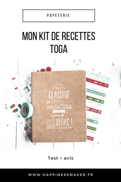 Mon classeur de recettes ! Le kit à customiser par Toga !