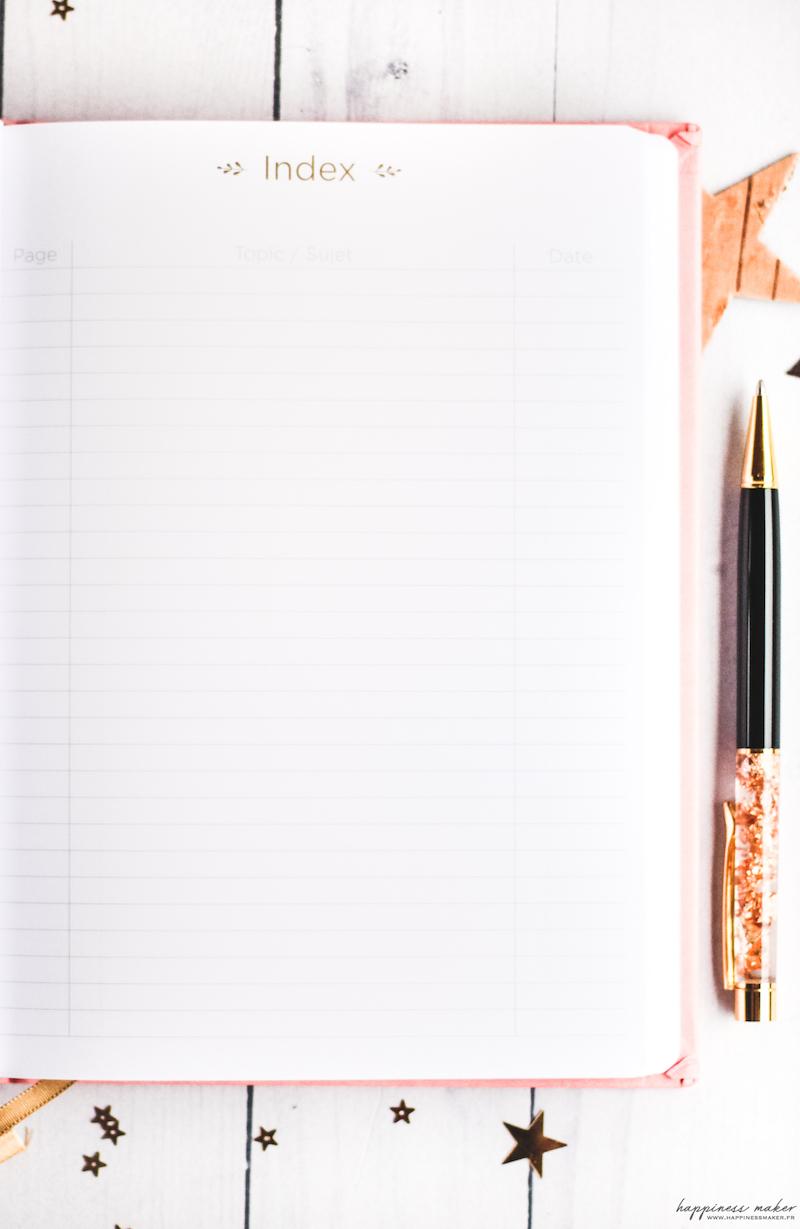 page pointillés carnet pour bullet journal quo vadis life
