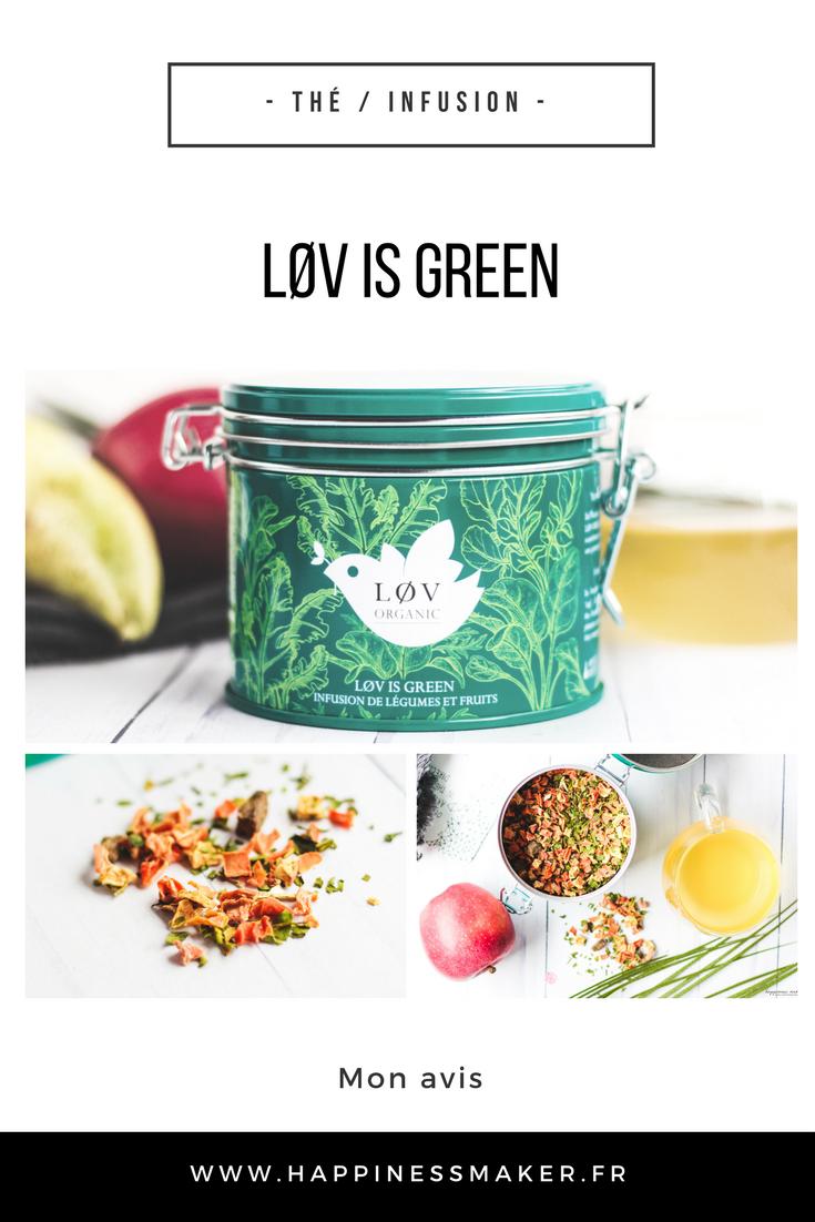 LØV IS GREEN thé infusion fruits et légumes bio Lov organic