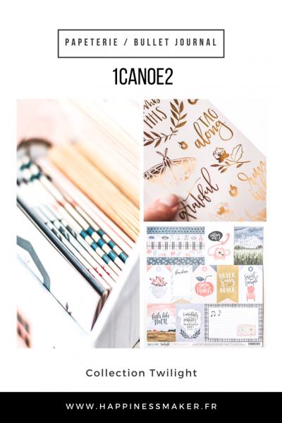 1canoe2 collection twilight jolie papeterie bullet journal