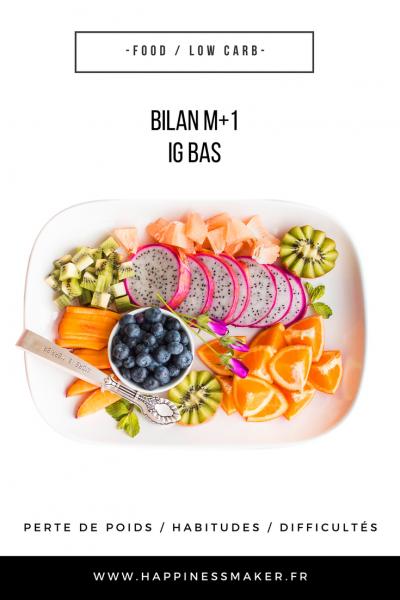 IG bas : Perte de poids, habitudes alimentaires … Mon bilan à 1 mois