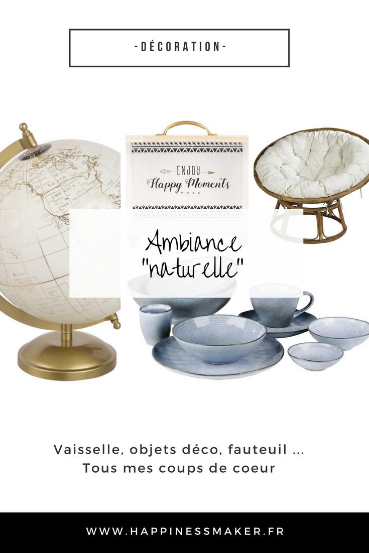 Déco naturelle : Vaisselle en grès, loveuse, mandalas et tirelire en bois …