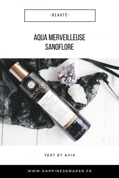 Aqua merveilleuse de Sanoflore : Mon avis