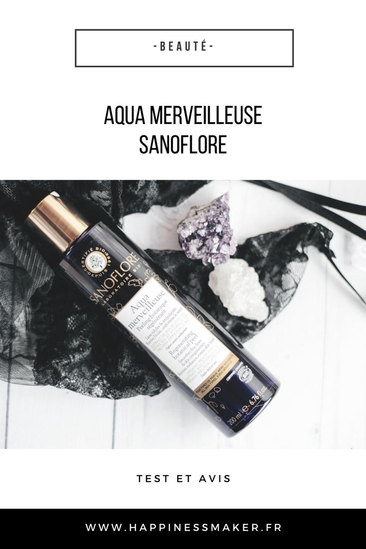 aqua merveilleuse sanoflore test et avis