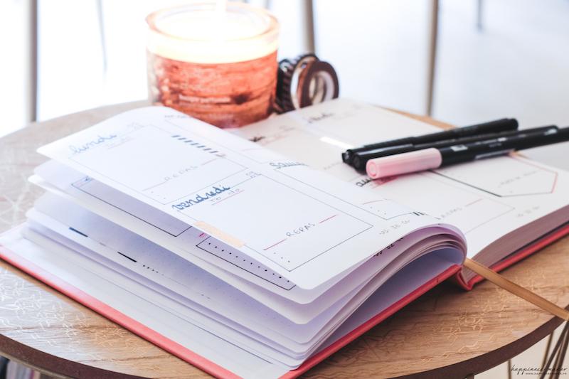bullet journal idées de pages faciles
