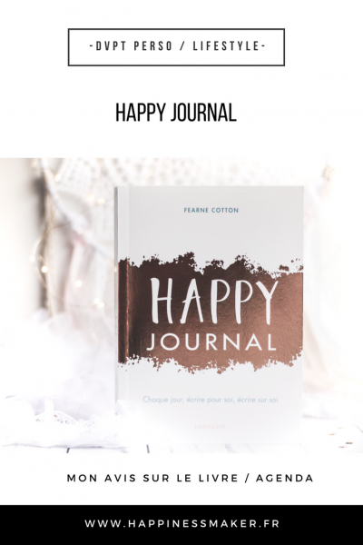 Happy Journal : L'agenda feel-good coloré à tester !
