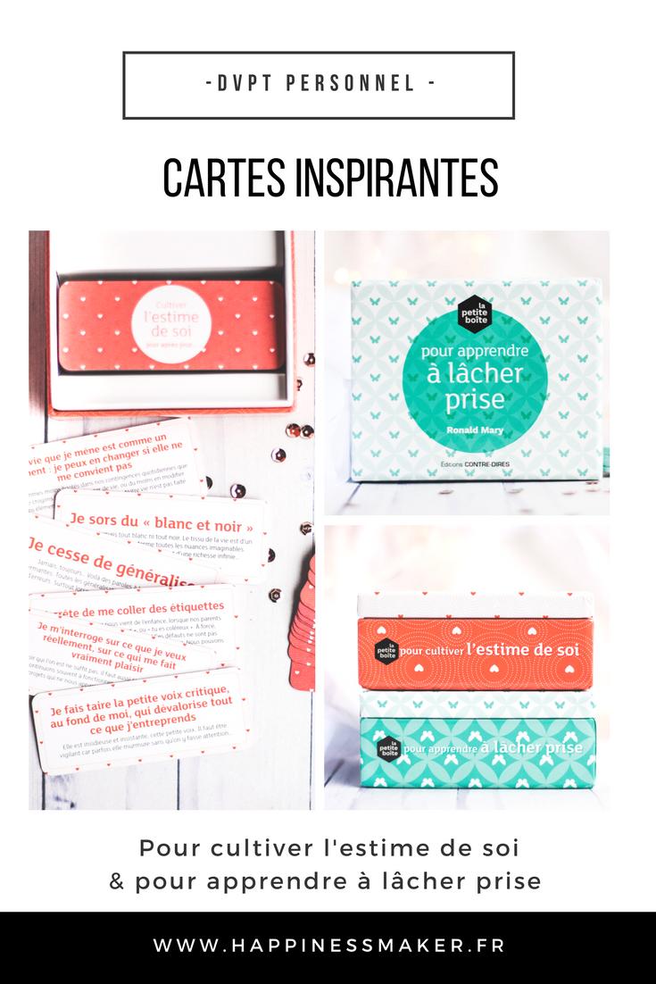 La petite boîte : Des cartes pour lâcher prise et cultiver la confiance en soi