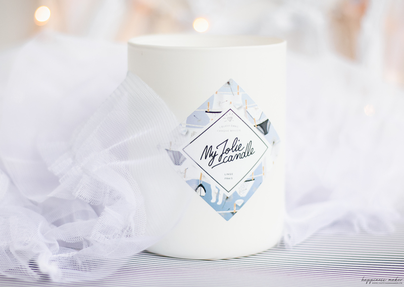 my jolie candle bougie linge frais bijou swarovski