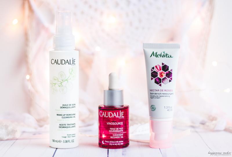 routine nuit peau sèche caudalie melvita avis test