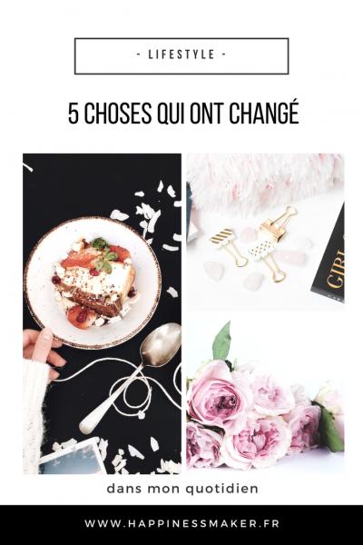 Fleurs, Bujo, healthy food … Ces 5 choses qui ont changé dans mon quotidien !