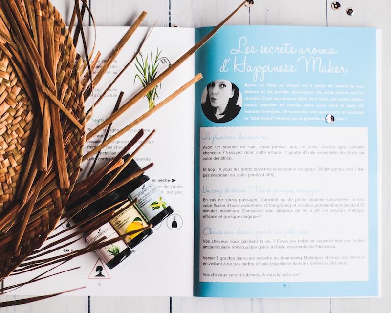 box aroma printemps millescence DIY maison cosmetiques huiles essentielles