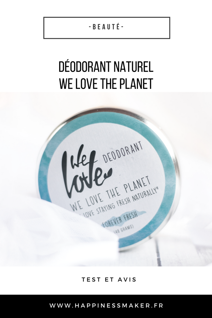 déodorant naturel we love the planet