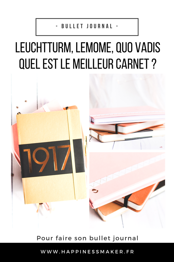 le meilleur carnet pour faire un bullet journal leuchtturm quo vadis ou lemome happiness. Black Bedroom Furniture Sets. Home Design Ideas