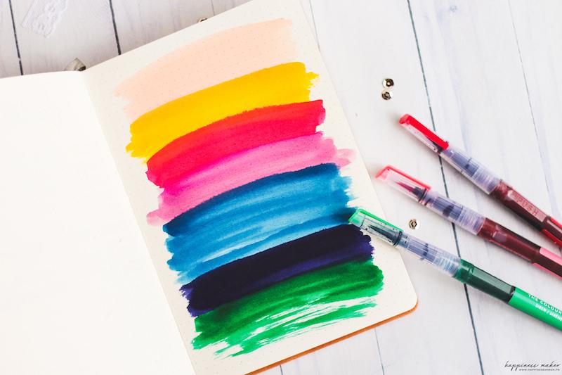 test carnet bullet journal pas cher lemome aquarelle