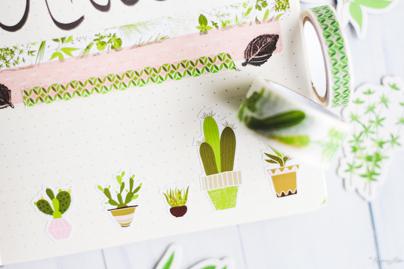 déco plantes fleurs bullet journal vegetal oh my green toga
