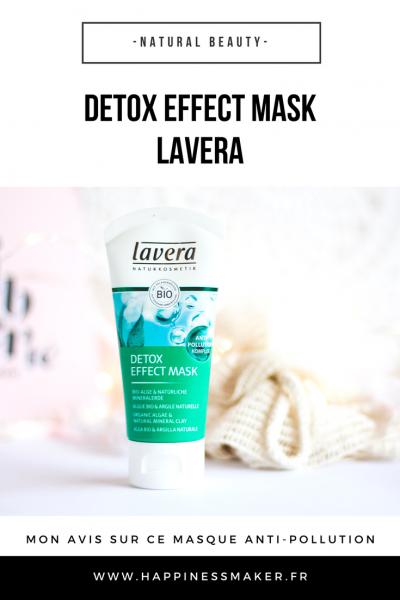 Masque détox anti-pollution Lavera : Mon avis
