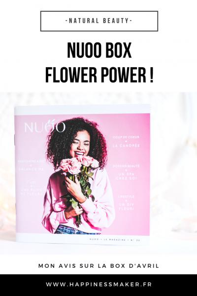 Flower Power : Bonne mine et jolie peau avec la Nuoo Box d'avril