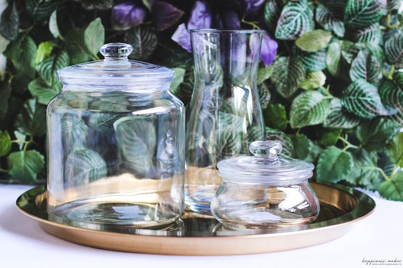 bonbonnières en verre et carafe ikea