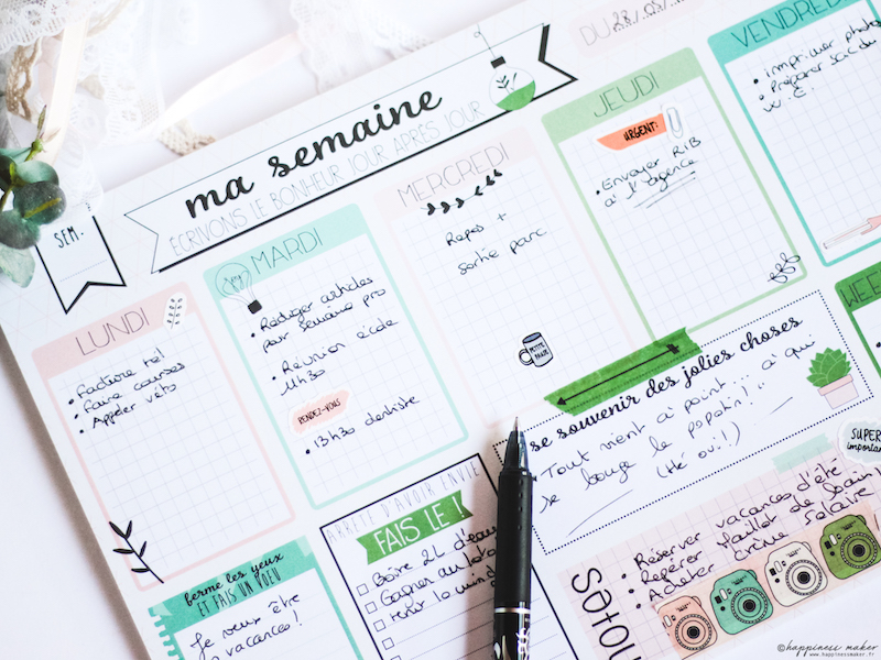 enjoy the little things jolie papeterie toga planner