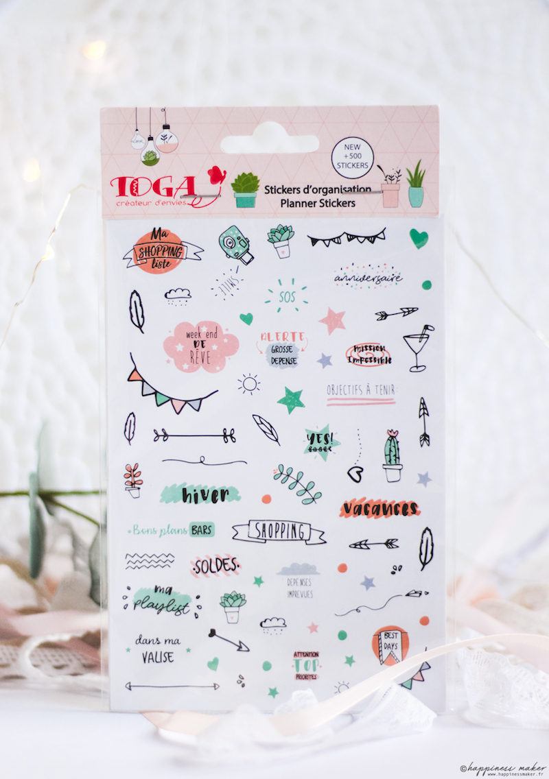 enjoy the little things jolie papeterie toga stickers