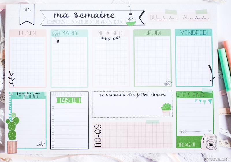 enjoy the little things planificateur de bureau toga