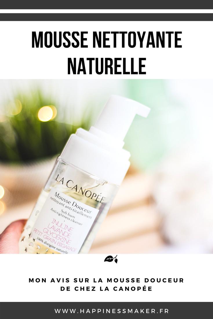 mousse nettoyante douceur naturelle La Canopée