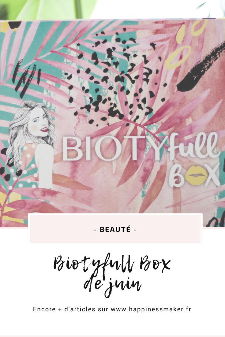 biotyfull box de juin 2018 avis lamazuna apicia boho