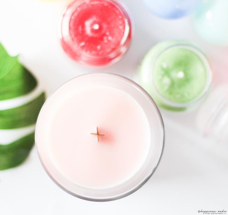 bougies pour l'été parfumées woodwick yankee candle