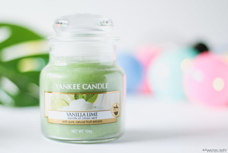 bougies pour l'été vanilla lime yankee candle