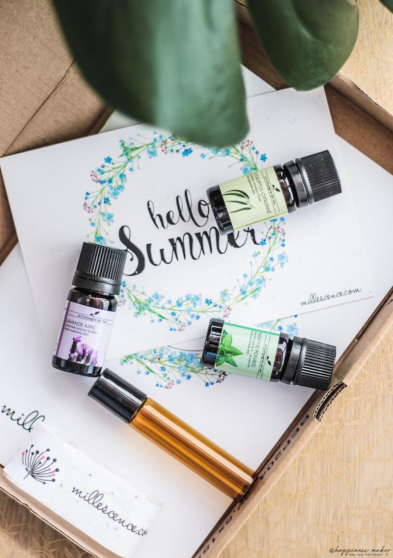 box aroma millescence les huiles essentielles de l'été
