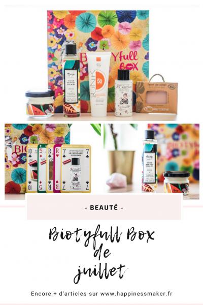 Biotyfull Box de juillet : Sea, sun and fun !