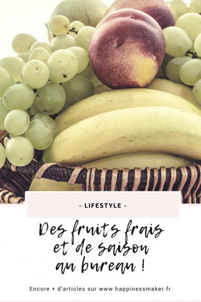 Livraison de fruits frais au bureau : L'idée healthy et vitaminée !
