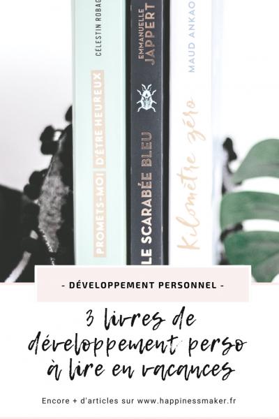 livres de développement personnel inspirants a lire pendant les vacances